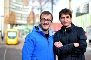 Julien Di Giusto à droite et Guillaume Kling. Crédit photo Catherine Kohler.